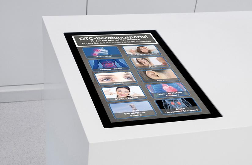 OPTIMUM-Media Multitouch-Beratungstisch + OTC-Beratungstool